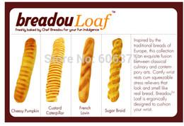 оригинальная упаковка мягкая Скидка Wholesale-8pcs/Lot, With Original Package, 4 Styles Breadou Loaf Squishy Wrist Pad