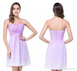 Wholesale Girl Sexy Stockings - 2018 New Arrival Sweetheart Short Cocktail Dresses Chiffon Lavender Summer Mini Homecoming Dresses Cheap Girls Party Gowns In Stocked CPS259