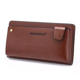 2019 polos marrones NUEVO 2017 POLO Hombres Cuero Business Wrist Clutch Bag Bolso Organizador de billetera Vintage Brown Checkbook Wallet Carteras de teléfono rebajas polos marrones
