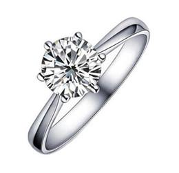Argentina Perder dinero promoción alta calidad estrella brillante cristal de circonio plata de ley 925 señoras` anillos de bodas regalo de la joyería Suministro