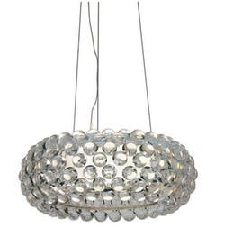 Wholesale Led 35 12v - 35 50 60cm Foscarini Caboche Pendant Lights Patricia Urquiola Lustres Cristal lustres e pendentes Transparent Gold 1742