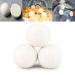 Wholesale Natural Fabric Clothing Wholesale - New Wool Dryer Balls Reduce Wrinkles Reusable Natural Fabric Softener Anti Static Large Felted Organic Wool Clothes Dryer Ball WX9-189