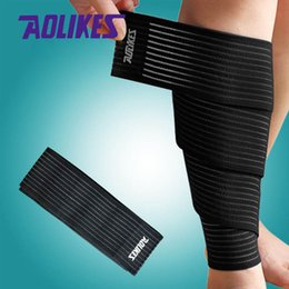 Wholesale Wrist Ankle Bands - 90*7.5cm High Quality Elastic Bandage Tape Sport Knee Support Strap Knee Pads Protector Band for Ankle Leg Wrist Wrap