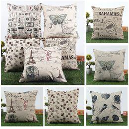 Wholesale Classic Pillow Cases - Wholesale-L155 Free Shipping 45x45cm Classic European Cotton Linen Cushion Cover Throw Pillow Case Home Decor