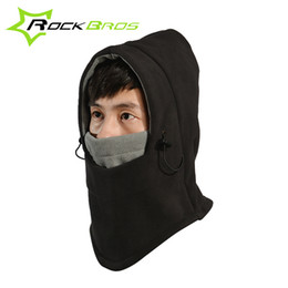 Wholesale Skull Dust Caps - Wholesale-2015 Winter Skullies Beanies For Men Women ROCKBROS Brand Thermal Warmer Fleece Sport Hat Dust-proof Cycling Bike Cap Face Mask