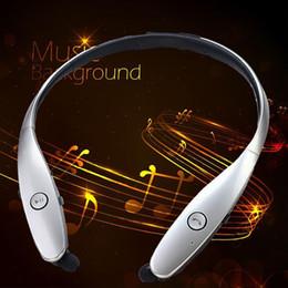 Wholesale Silver Tone Headband - hot sale! Fashion Bluetooth Headset Earbud For iPhone Samsung LG HBS-900 HBS 900 Tone Wireless Mobile headphone handsfree Earphones