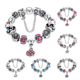 Wholesale Wholesale Chamilia Charms - Wholesale Luxury Style Charm Bracelet Colorful Charming Chamilia Beads Bracelets with Pandora for Women and Men Fashion Jewelry Hot Sale