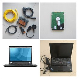 Wholesale Cpu Analyzer - 2015 for bmw icom a2 with laptop + 21 language expert software 500gb HDD + T410 laptop I5 CPU for bmw icom a2 b c free shipping