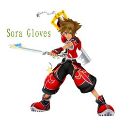 Wholesale Kingdom Hearts Free - Wholesale-Free Shipping Kingdom Hearts Anime Cosplay Sora Party Red Gloves
