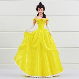 Wholesale Cute Piggies - Pricess Coin Box Cute Piggy Bank Snow White Belle PVC Action Figure Colletible Model Doll For Children