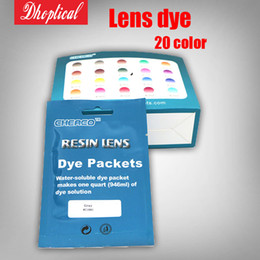 Wholesale Glass Dyes - free shipping Glasses lens dyeing powder glasses dyeing agent eyeglasses accessories for glasses shop 20 different color
