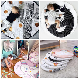 Wholesale Wholesale Game Rooms - INS Baby Creeping Mats Fox Unicorn Play Game Mats Decorative Crawling Blanket Kids Room Padded Floor Carpet 12pcs OOA3607