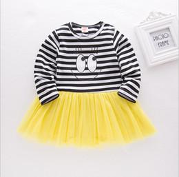 f5fe62f157da 2018 New Spring Fashion Cute Infant Girl Romper Dresses Big Eyes Striped Baby  Girl Clothing Newborn Cotton Jumpsuits Dress Clothes 70-95