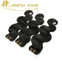 Wholesale Cheap Real Hair Extensions - 100% Real Brazilian Hair Weave Bundles Body Wave Human Hair Weft Cheap Hair Extensions Malaysian Peruvian Indian Double Weft 3PCS Sale