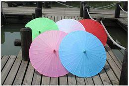 encomendar caixas de plástico Desconto Guarda-Sol de Casamento quente Parasol Parasol Sol Guarda-Chuvas de Casamento Acessórios Feitos À Mão Guarda-chuva de Papel Sólido Cor Sombrinha 100 pçs / lote