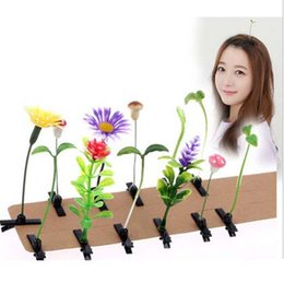 Wholesale Antenna Clips - 50pcs per lot Novelty Plants Grass Fruit Hair Clips Headwear Small Bud Antenna Hairpins Lucky Grass Bean Sprout Mushroom Party Hair Pin