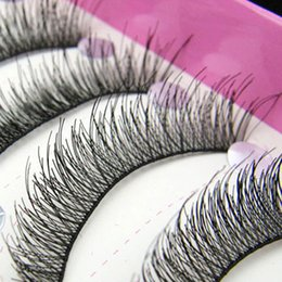 natural false eyelash brand Coupons - Wholesale- New Arrival 10 Pairs Natural Makeup False Eyelashes Soft Long Eye Lash Extension Tools Brand Makeup Cosmetic Fake Eyelashes