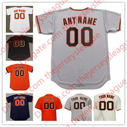 Wholesale road number - Mens Womens Youth San Francisco Custom Stitched Cream Home Gray Road Black Orange Throwback Any Name Number Cool Base Jerseys S-4XL