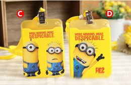 Wholesale Minion Drive - Despicable Me minions travel passport holder drive license card case fashion passport protective sleeve passport cover