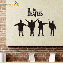 Wholesale Beatles Decals - Beatles Wall Decals 2014 New Designs Removabl Music The Beatles Vinyl Wall Stickers Home Decor ZY8192 Wall Art Decals