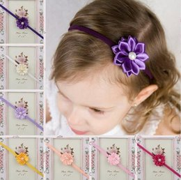 Wholesale Hair Clips Bow Lace - girls Headbands hair bows clip Kids Hair Flowers headbands Girls Headbands Baby Hair Accessories Headbands