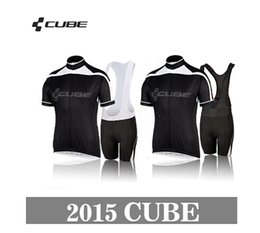 Wholesale Team Cube Cycling Jerseys - Wholesale-New Styles team cube Cycling Jerseys Bike Jersey +bib cycling Shorts cube 2015 Men's sports riding bicycle clothes