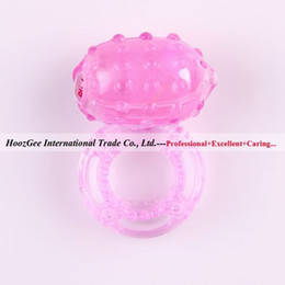 Wholesale Sex Toys Flash Light - w1031 Free Shipping Lighted Flash Locking Delay Sex Cockring Bump Vibrating Penis Ring Sex Toys Adult Products XQ-019