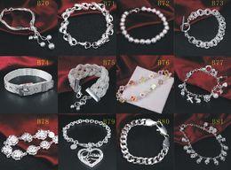 bracelet style style Promotion Brand New 925 Sterling Silver Bracelets Bijoux Style Mixte 925 Bracelet En Argent Bracelet Bijoux Femmes Cadeau De Mariage 20pcs / lot