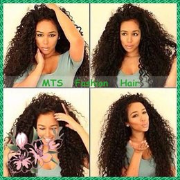 Wholesale Darker Black Cosplay - Cheap Virgin Hair Curly Full Lace Human Hair Wigs Bleached Knots Brazilian Hair Lace Front Wig Glueless For Black Women