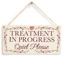Wholesale Design Plaque - Treatment In Progress Quiet Please - Pretty Love Heart Frame Design Sign Plaque