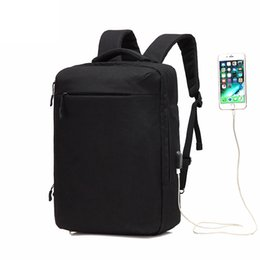 Wholesale Oxford Laptop Bag - Multi-functional Men Backpack Waterproof USB Charge Computer Backpacks 15Inch Laptop Bag Creative Student School Bags 2017
