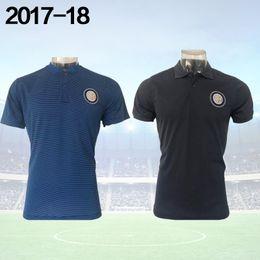 Wholesale Italy Trains - 2017 Soccer POLO shirt Inter Mens T-Shirts Italy Training 17 18 ICARDI CANDREVA Mens Short SLeeve soccer Polo Shirts