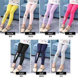 Wholesale Tights Collection - Yunuo baby 2017 new collection girls' leggings, large children multicolor candy colours leggings with cute printing, sweet style
