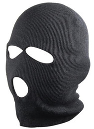 Wholesale Wholesaler Party Hats Masks - 3 Holes Black Balaclava SAS Style Mask Neck Warmer Ski Hat Paintball Fishing