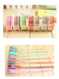 Wholesale Cute Tapes - DIY Cute Colorful Kids Photo Props Lace Flower Tape for Scrapbook Decor Photo Albums Accessories washi tape Free shipping TY1019