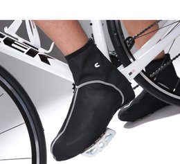 Wholesale Sports Mountain Cycling Shoes - Wholesale-Windrpoof waterproof fleece thermal ciclismo Mountain sport Bike Cycling Shoe Cover OverShoes Bicycle Riding Lock Shoe Covers