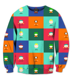 Wholesale Sublimation Clothes - Real USA Size 3D Sublimation print crewneck Sweatshirt South Park Deluxe Collage unisex men women streetwear plus size 6xl clothing