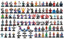 Wholesale Men Superheroes - 96 style DC SuperHeroes Marvel Avengers Spider-Man Wolverine Hulk Building Blocks Sets Kids toy Bricks