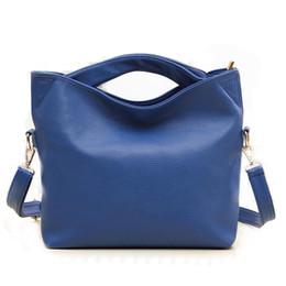 Wholesale Boston Bag Strap - famous brand ladies luxury women leather handbags and women messenger bags long strap solid blue orange hang shoulder vintage