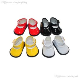 """Wholesale Wholesale 18 Inch Doll Accessories - Wholesale-free shipping factory price Environmental protection 18"""" INCH DOLL SHOES for AMERICAN GIRL black white yellow red ballet"""