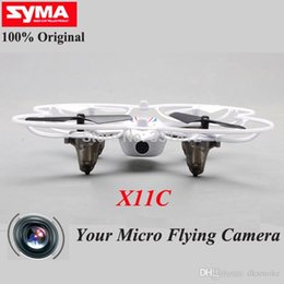 Wholesale Top 4ch Rc Helicopters - TOP Quality remote control toys SYMA X11C X11 with HD camera 4CH 2.4G rc quadcopter Helicopter drone