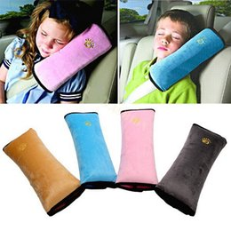 Wholesale Shoulder Pillows Baby - Retail Baby Auto Pillow Car Safety Belt Protect Shoulder Pad Adjust Vehicle Seat Belt Cushion For Kids Children
