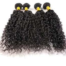 Wholesale pure jerry - Unprocessed Human Hair Weaves Virgin Brazilian Hair Bundles Jerry Curly Wefts 8-34Inch Peruvian Indian Malaysian Mongolian Hair Extensions