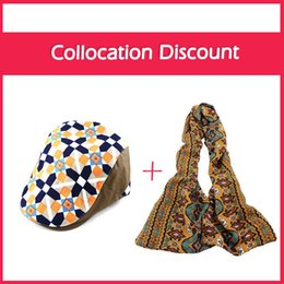 Wholesale Buying Hats For Wholesale - Wholesale-Buy One Get One Free Visors Hats Cotton Print Flower Designer Apparel Accessories Wholesales 2015 for Women Fashion