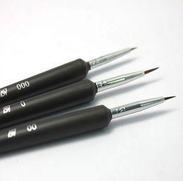 Wholesale Acrylic Nail Pens - Nail Tools Tiny Liner Drawing Painting Pen Brush Acrylic Nail Art Detailed Design Tool set Nail painting flowers pen Nail Brushes 3pcs set
