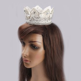 Wholesale Cheap Costume Jewelry Pearls - 2015 china cheap High Quality Crystal rhinestone Wedding Bridal Crown Tiaras costume jewelry party birthday pearl head dress free shipping
