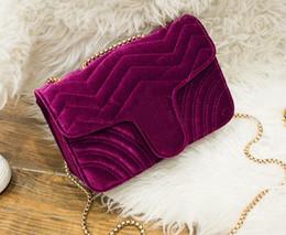 Wholesale Pink Velvet Dress - Free shipping!velvet bag women famous shoulder bags real leather chain crossbody bag winter fashion handbags women bags 446744 443497