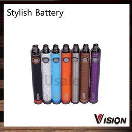 Wholesale Ego Update - Vision Stylish Updated Ego Battery 1300mAh E Cigarette Vision Stylish Battery Variable Voltage 3.3V- 4.8V for 510 thread 002682