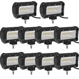 Wholesale 27w Led Work Lights - Offroad 5INCH 72W LED WORK LIGHT BAR 12V 24V CAR TRUCK SUV BOAT ATV 4X4 4WD TRAILER WAGON PICKUP DRIVING LED LAMP