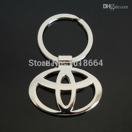 Wholesale Toyota Key Ring Holder - Wholesale-ONE PC Hot Sale Toyota Keychain Llaveros Chaveiro Key Chain Keychain Keyring Key Ring Key Holder Promotion Gift A118